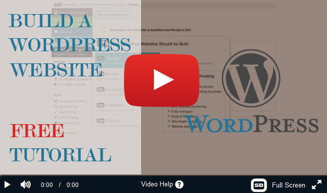 How to build website in WordPress - FREE video tutorial - Make a Living from Home in 2017