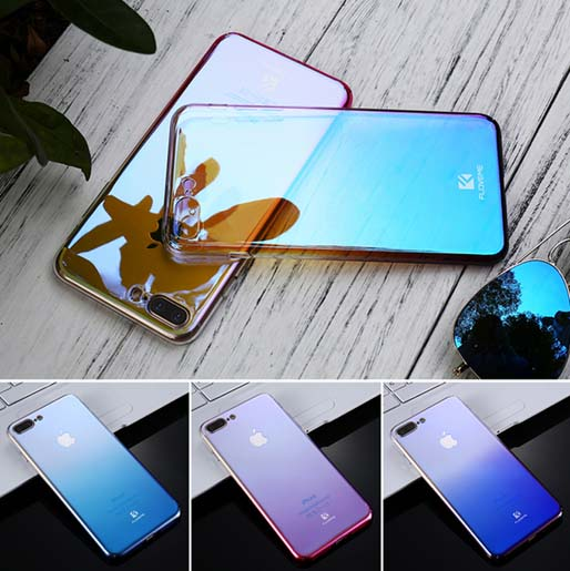 Gradient Blue-Ray Light Phone Case For Apple iPhone 6 6S Plus iPhone 7, 7 Plus Clear Accessories Cover Capa - Get Happy e-Deals