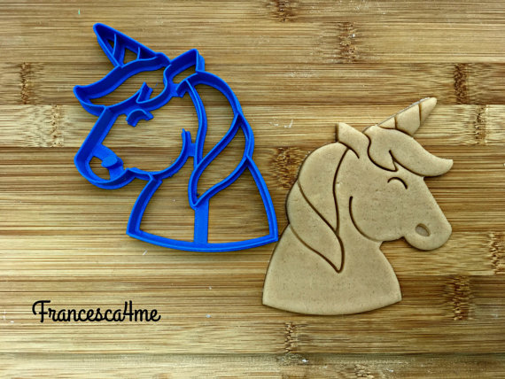 Unicorn Cookie Cutter Cupcake Size 2.5