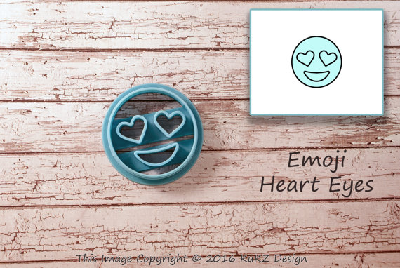 Emoji Smile & Hearts Cookie Cutter Small - Cookie Cutter for Fun Baking - Get Happy e-Deals