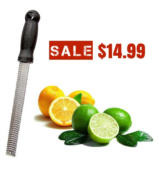 Microplane 40020 Classic Zester Grater Stainless Steel Blade – FREE Shipping
