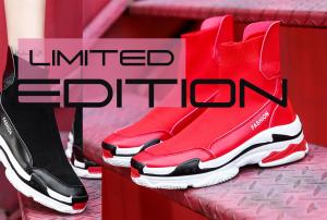 Limited Edition High Top Slip On Sports Sneakers - Sold by Get Happy e-Deals